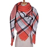 HUAHUA bufandas Caliente del otoño y del invierno bufandas, Pañuelo-mantón de la bufanda del babero del mantón Capa de la cachemira otoño e invierno bufanda caliente femenino de la tela escocesa del e