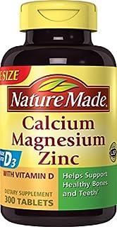 Nature Made Calcium, Magnesium & Zinc w. Vitamin D Tablets Value Size 300 Ct