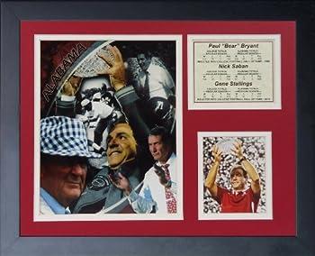 Legends Never Die  Alabama Crimson Tide Coaches Framed Photo Collage 11 x 14-Inch