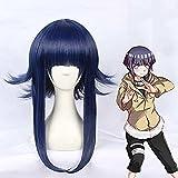 Lecheng anime naruto wig hyuga hinata layered blue cosplay wig pelo sintético hyuga hinata cosplay disfraz peluca para adulto (hinata)
