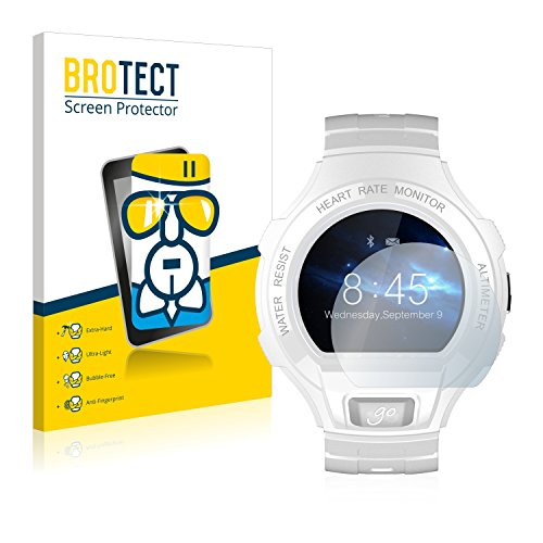 BROTECT Protector Pantalla Cristal Compatible con Alcatel Go Watch Protector Pantalla Vidrio - Dureza Extrema, Anti-Huellas, AirGlass