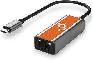 محول Dausen [Dopamine] USB-C إلى Ethernet ، شبكة Gigabit LAN 1000/100/10 Mbps, متوافق مع معظم أجهزة الكمبيوتر المحمولة بما...