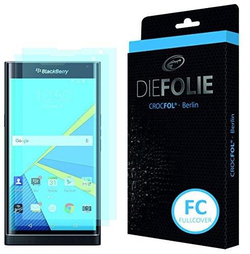 Crocfol Schutzfolie vom Testsieger [2 St.] kompatibel mit BlackBerry Priv - selbstheilende Premium 5D Langzeit-Panzerfolie -inkl. Veredelung - für vorne, ganzes Bildschirm