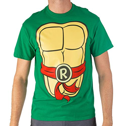 Teenage Mutant Ninja Turtles TMNT Mens Costume T-Shirt (Red, Red, Size Medium