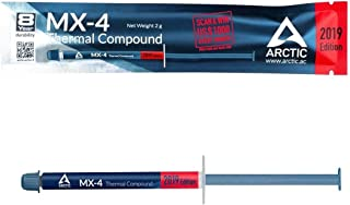 ARCTIC MX-4 (2 Grams) Thermal Compound Paste Carbon (2019 Edition)   Based High Performance   For Gamers and Overclockers...