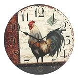 57 cm Diseño de gallo con tiempo de casa grande árabe reloj de pared