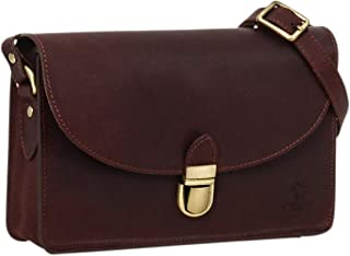 Gusti Handtasche Leder - Zoey Umhängetasche Schultertasche Alltagstasche Tasche Crossbody Ledertasche Damen Rot Leder