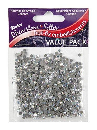 Darice Hot-Fix Glass Stone- Apliques y adornos de tela, 4mm 750/Pkg, piedra de cristal iridescente