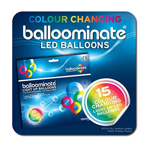 Farbwechsel Ballons BALLOOMINATE Multi mit LEDs (15 Pack)