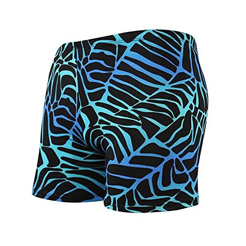 Swim Trunks for Men, Men's Square Leg Swim Briefs Printed Swimsuit Athletic Swimwear Bathing Suit Swimming Trunks
