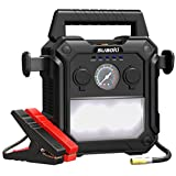 SUAOKI U29 2000A Peak Portable Car Jump Starter (up to 10.0L Gas or 8.0L Diesel Engines) 4-In-1 Battery Booster 150 PSI Air Compressor Power Pack with Cigarette Lighter Socket for 12V Car Boat