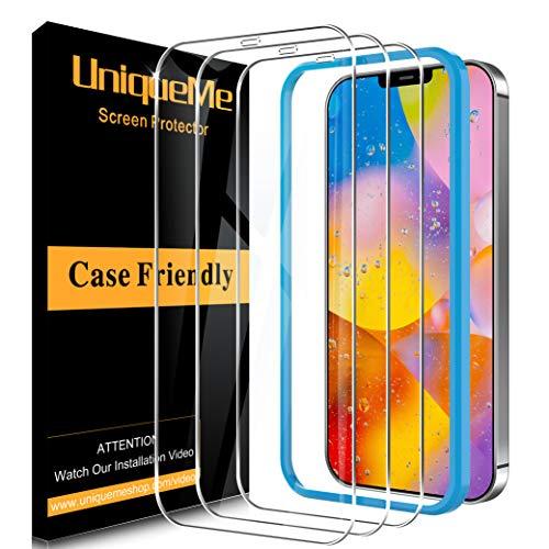 [3 Pack] UniqueMe Schutzfolie Kompatibel mit iPhone 12 Pro/iPhone 12 5G Panzerglas,Folie Kompatibel mit iPhone 12 Pro/iPhone 12 5G Schutzglas,[Anti- Kratzer] HD Klar Gehärtetes Glas Bildschirmschutz