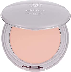 Three Way Cake Wet and Dry Compact Foundation by Maroof - 01 Beige (04 Beige)