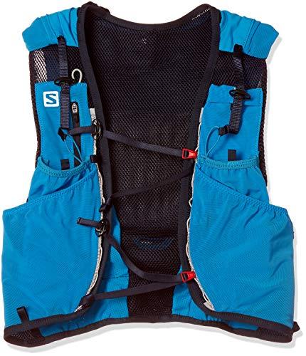 Salomon ADV Skin 12 Set Mochila Ligera de hidratación para Corriendo/Senderismo, Capacidad 12 L, Unisex Adulto, Azul (Hawaiian Surf/Night Sky), XS/S