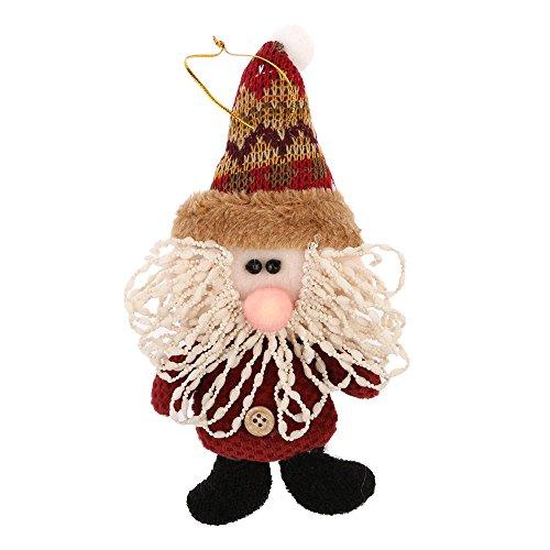 VANKER Joyeux Noël Décoration Père Noël pour Arbre Maison Ornements Suspension