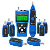 Noyafa PP1888 NF-388 FOME Multipurpose Network Cable Tester Tracker with 8 Far-End Jacks for Test Ethernet LAN Phone Wire USB Coaxial (Blue)+ FOME Gift