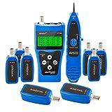 Noyafa PP1888 NF-388 FOME - Probador de cable de red multiusos con 8 conectores de extremo lejano para prueba Ethernet LAN teléfono cable USB coaxial (azul)+ regalo de la fotografía