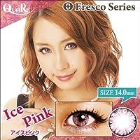 カラコン 度なし 1箱2枚入り QuoRe Fresco Series/ソブレ/119227 14.0mm【IcePink--0.00】