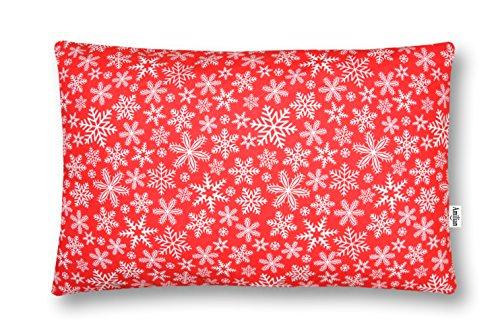 Amilian® Dekokissen Kissenbezug Kissen 40cm x 60cm Schneeflocke Rot
