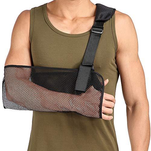 Cool Mesh Arm Sling Medical Shoulder Immobilizer Thumb Support Rotator Cuff Wrist Brace Strap Lightweight Breathable Comfort for Broken&Fractured Bones