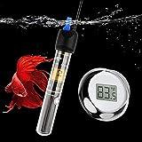 FREESEA 50 Watt Aquarium Submersible Betta Heater with Aquarium Submersible Thermometer