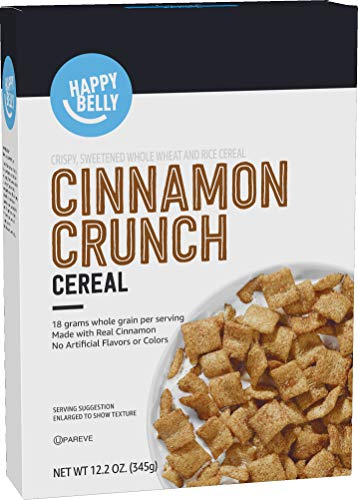Amazon Brand  Happy Belly Cinnamon Crunch Cereal 122 Ounce