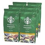 Starbucks Veranda Blend Caffè Macinato Dalla Tostatura Leggera 6 Sacchetti da 200 g