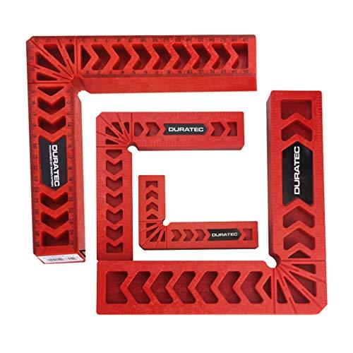 直角定規 コーナークランプ 固定 L型 強化プラスチック製 木工 作業DIY用 直角接着 4点セット 赤色