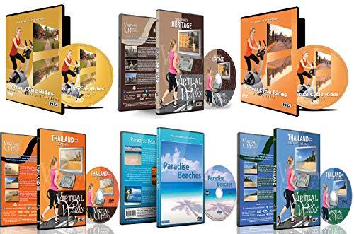 6 Disc Set Kombi Pack - Das Beste aus Asien virtuelle Walks und Cycling DVD Box Set für Laufband, Elliptical Trainer und Spinning Bikes Workouts