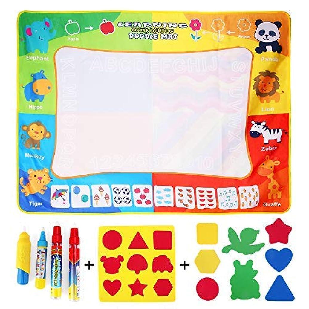 CraftsM Magic Water Drawing Mat, Kids Art Drawing Pad Large Doodle Mat 47.3