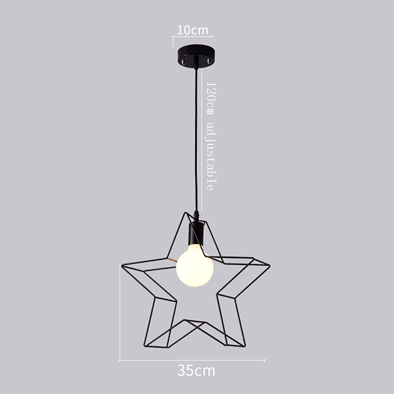 Kronleuchter, personalisierte Kronleuchter schmiedeeisernen Lampen Restaurant Cafe Bar Dekorieren lampe Nordic Schlafzimmer Bett E27 Kronleuchter (Schwarz, Wei) (Effizienz  A) (Farbe  Wei-B)