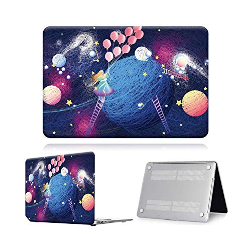 Peach-Girl Case for MacBook Air Pro Retina 11 12 13 15 16 Cover Painting Print Laptop Cover Case -Fantasy Planet-12 Inch (A1534)