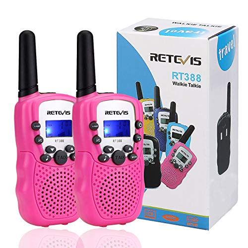 Retevis RT388 Kids Walkie Talkies PMR446 8 Channels Pink...