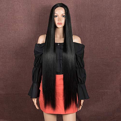 Style Icon Perücke für Damen, 93 cm, superlang, seidiges, glattes Haar, Lace-Front-Perücke, Haarersatz, synthetische Perücken