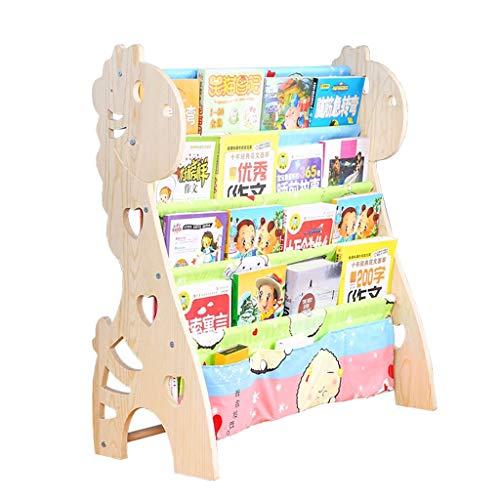 Étagères pour Enfants Bibliothèque pour bébé Étagère de Rangement pour bébé en Dessin animé en Bois Massif Étagère pour Livre de bébé Étagère pour garçon et Fille Simple