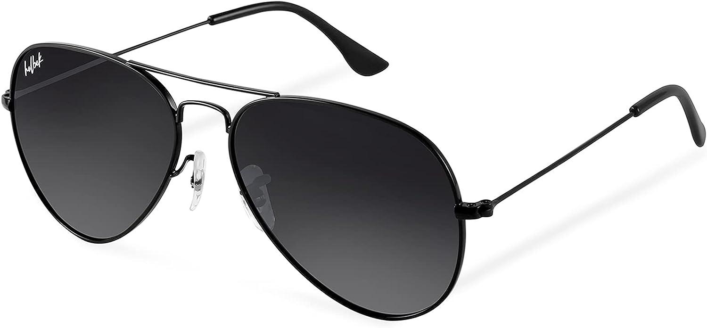HELBEK ORVILLE | Gafas de Sol aviador. Ligeras y Resistentes - Protección UV400 + Lentes Polarizadas.