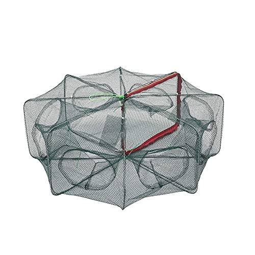 Renforcé 6/8 Trous automatisant Les Outils de matériel de réseau Pliables pour piège à crevettes Pliable en Cage Nette