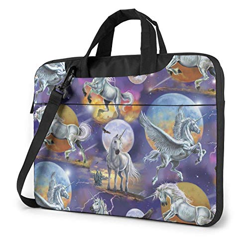 Laptop Shoulder Bag 15.6 inch, Flying Unicorn Busin Briefcase Protective Bag Cover