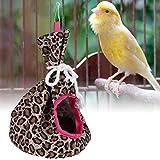 Grotta pensile pieghevole e portatile per uccelli