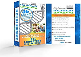 GRANDPARENT DNA Test Kit ▪ Most Advanced & Accurate - 46 DNA (GENETIC) MARKER TEST ▪ All Lab Fees Included ▪ Offered by My Forever DNA