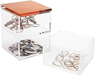 Moosy Life Rose Gold Paper Clip Holder, Drawer Organizer, Moonlight Series