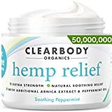 Hemp Pain Relief Cream- Made in USA Lab Tested Hemp Oil Formula for Arthritis, Back, Knee, Joint, Carpal Tunnel, Nerve, Muscle Pain for Inflammation, Soreness with Natural Peppermint & Arnica Extract