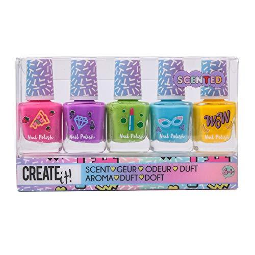CREATE IT - Set 5 vernis à ongles parfumés fluo - pour enfant fille - 84161