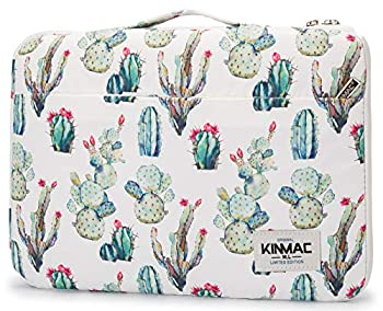 """Kinmac 360° Protective 13 inch Waterproof Laptop Sleeve case Bag with Handle for for 13.3"""" MacBook Air   13  MacBook Pro Retina,13.3 inch 13.5 inch and 13.9 inch Laptop Cactus"""