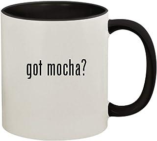 got mocha? - 11oz Ceramic Colored Handle and Inside Coffee Mug Cup, Black