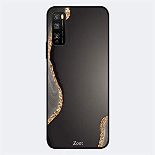 ZOOT Protective Printed Case Cover For Huawei Enjoy 20 Pro Grey Golden Sand Pattern,Thermoplastic Polyurethane Slim fit Cl...