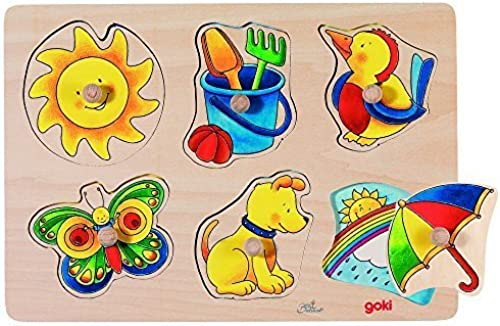 Goki Puzzle with Hidden Pictures Sun and Moon by GoKi