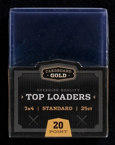"Cardboard Gold CBG 1,000 1000 PRO 3"" x 4"" Toploaders Case - 40 Sealed 25ct Packs Keeps Cards Ultra Protected image"