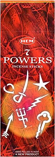 25 cajas de 8 inciensos HEM - 200 varillas totales - Fragancia 7 poderes Power poderes