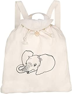 'Baby Elephant' Canvas Rucksack / Backpack (RK00014151)